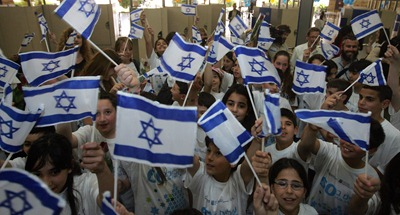 Israeli Children Waving the Israeli flag and Singing The National Anthem Hatikvah: Fascist Behavior?