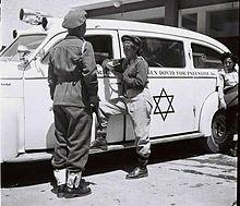 A MADA ambulance in 1948