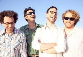 The Israeli Indie band 'The Giraffes'. The lead giraffe is the one with crossed arms in front.