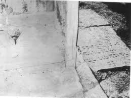 Jordanian army latrine built with Jewish headstones from destroyed graves on the Mount of Olives (found when Israel retook the Old City in 1967).