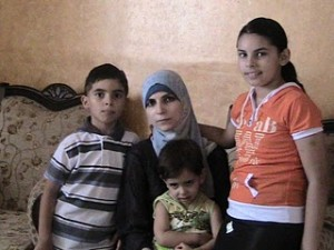 Sisi's wife, Veronica, with three of their six children. This picture was part of the international campaign to castigate Israel and engender sympathy for the 'poor' 'innocent' Gazan 'engineer'.