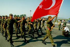 Turkish soldiers parading at a NATO ceremony. Can you imagine these troops deployed in Jerusalem or throughout Judea and Samaria?