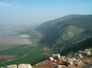 View from Mount Gilboa with a small portion of the Jezreel Valley below.