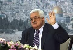 A photo from last night; during the speech the TV camera faced Abbas head on so that the Dome of the Rock was over his right shoulder.