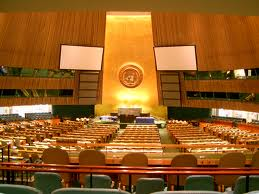 General Assembly Hall at the United Nations: a beautiful venue for a morally bankrupt organization