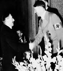 Chamberlain shaking hands with Hitler: how quickly the world forgets