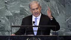 Netanyahu speaking last night at the U.N.