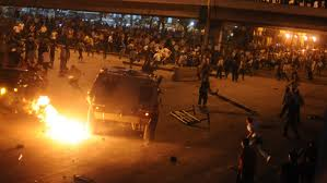 The Egyptian military attacking Coptic Christians in Cairo last night
