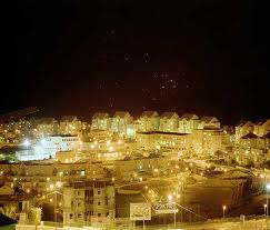 A night picture of Maaleh Adumim--does this really look like a 'settlement' to you?