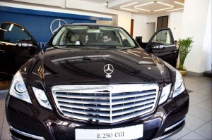 At the Mercedes dealership in Ramallah