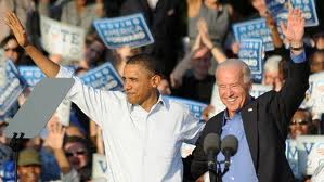 Obama and Biden campaigning in 2008. Will Biden be on the ticket again?