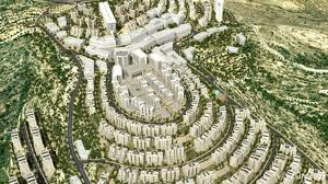 An artist's rendering of Rawabi--a new Palestinian city already under construction near Ramallah.