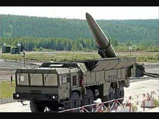 According to Assad, Syrian missiles like this one tipped with nerve gas are positioned within six hours of the Golan Heights.
