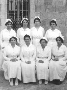 Nurses in the first graduating class.