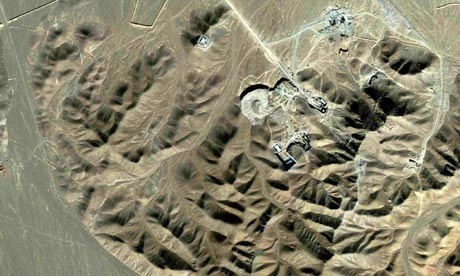 The hardened underground Iranian nuclear facility. If nothing is happening there why are S-300 missile batteries being place all around it?