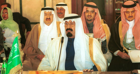 "The Saudi architects of the suicidal 2002 Arab ""Peace Plan""--then crown prince Abdullah and his delegation."