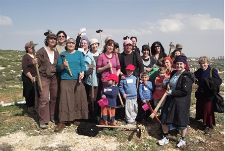 Some of the Women in Green; hard at work in Judea and Samaria to secure the nation of Israel.