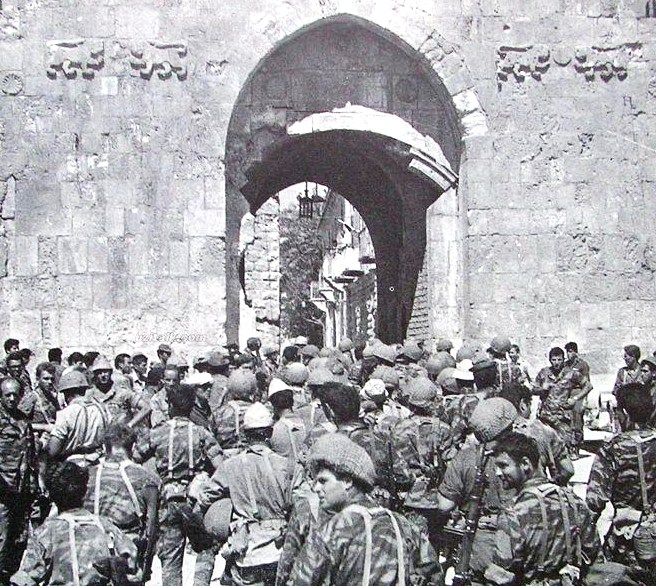 One of the most iconic photographs of the 1967 war as Israeli paratroopers ready to enter the Old City. Now, incredibly, they have been blocked from entering the same way by the Jerusalem Police.