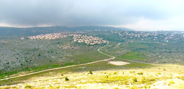 The Amona community which overlooks the nearby community of Ofra.