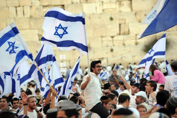 There are few sights as beautiful as that of the Israeli flag at the Kotel.