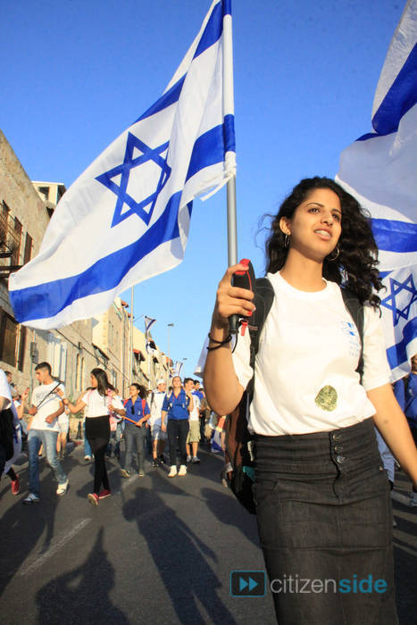The next time you have a chance to march in a parade with an Israeli flag be sure to do so. It is an exhilarating experience.