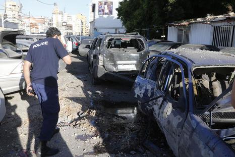 More rocket damage in Beirut today.