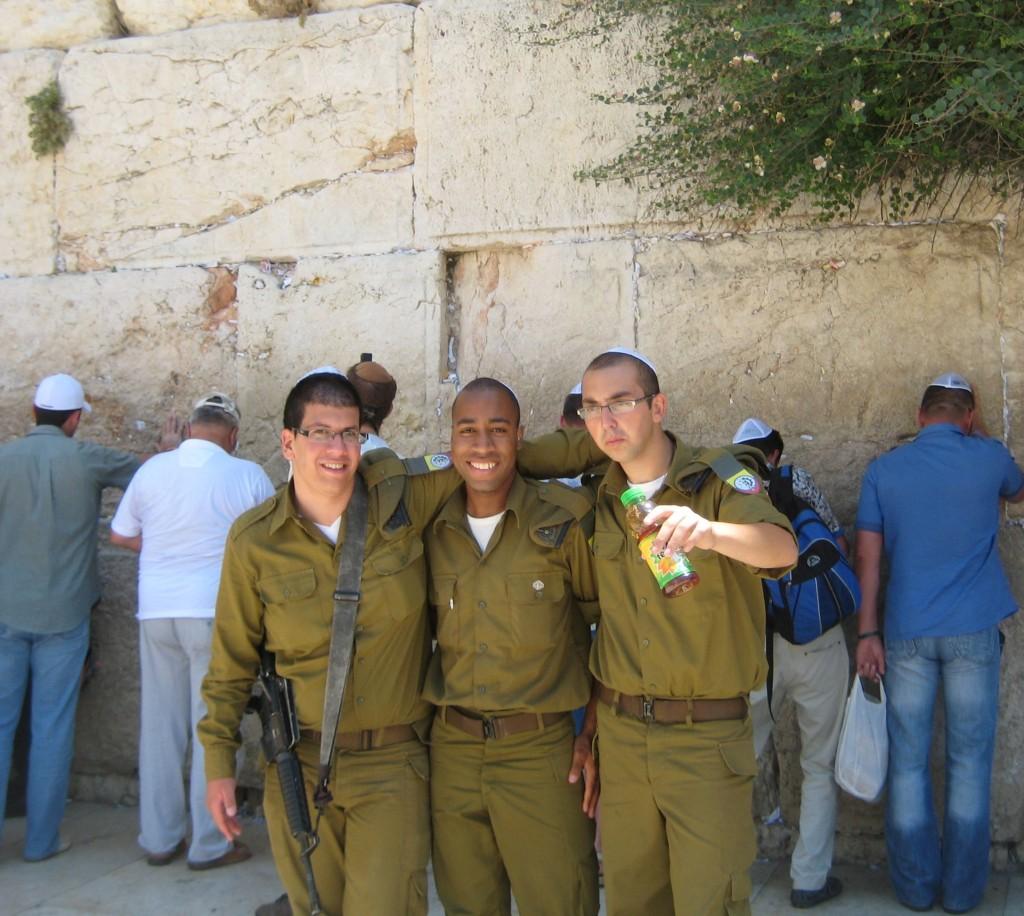 Three IDF friends . . .