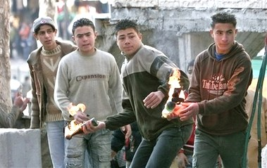 "Palestinian ""children throwing Molotov cocktails at Israelis."
