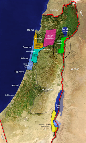 The Jordan Valley, circled and in green on the map.