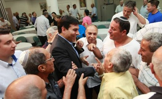 Danny Danon being congratulated on Tuesday after taking over complete control of the Likud party,