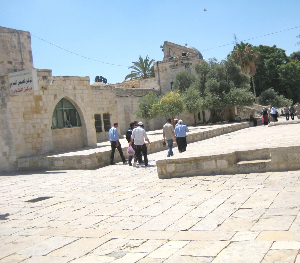 Taken to the police station for practicing their faith. There is no freedom of religion for Jews on the Temple Mount--Judaism's holiest place.