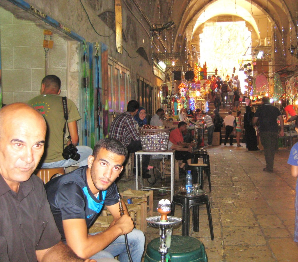 The air in the shuk was an exotic mixture of coffee, perfumes, and candies.
