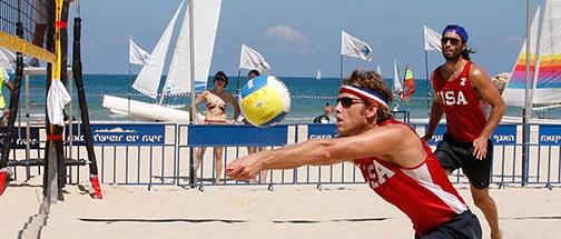 Beach volleyball in Tel Aviv.