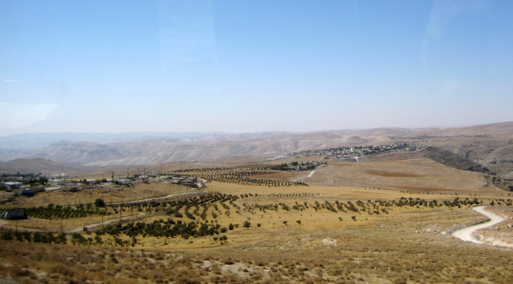 Nokdim is in the left foreground of the picture--note its olive groves on the surrounding land. It is in Area C--under Israel civil and military control.