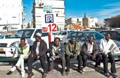The scene on many street corners in Israel (photo: Haaretz).