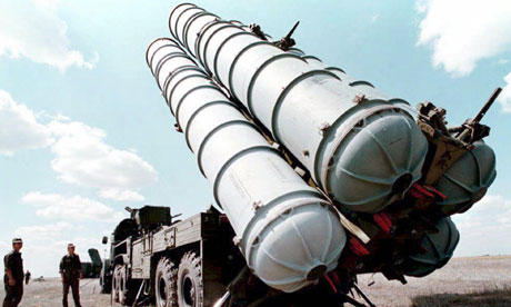 Rolling into Iran tomorrow, Russian S300s.