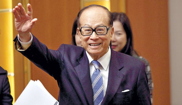 Li Ka-shing, a long-time investor in and friend of Israel--reputed to be the richest man in Asia.