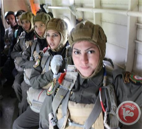 Palestinian soldiers on board a Russian plane getting ready to jump. What in the world is Russia doing training Paletinian paratroopers? Picture source: Ma'an.