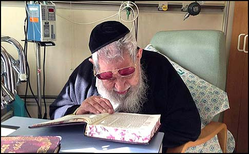 The rabbi continued studying Torah right up until the end of his life--even in his hospital room.