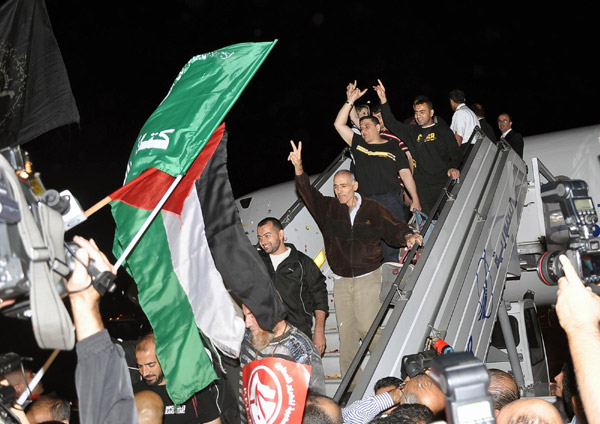 Released Palestinian terrorists arriving in Turkey  a little over a month ago.