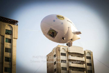 One of Hamas' spy balloons--powered by helium supplied by the IDF.