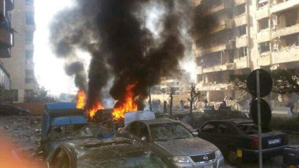 The Syrian war comes to the Iranian embassy in Beirut (picture source: zerohedge).