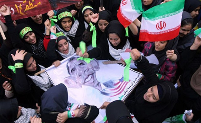 Death to America Day is so much fun in Iran (picture source Al-Arabiya).