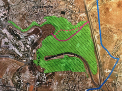 The green area is where the national park will soon be located (picture source: walla).