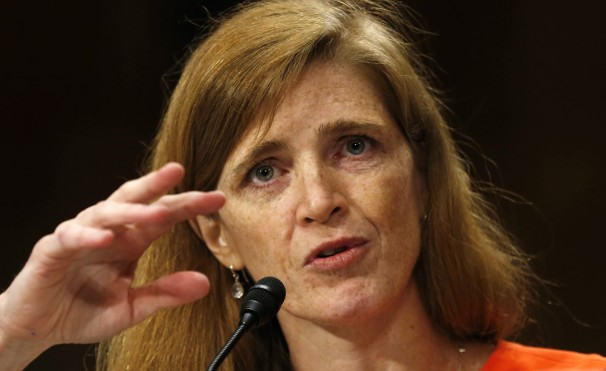 Samantha Power: the new face of U.S. diplomacy--clearly out of her depth on the Iranian issue (picture source: Washington Post).