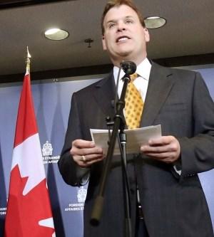 Canadian FM John Baird.