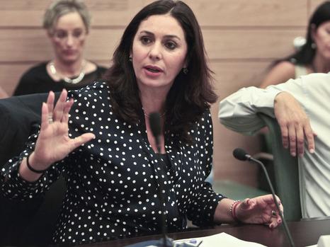 Miri Regev in committee yesterday (picture: Ynet news).