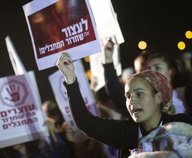 Protesters against the release of the murderers (picture: Times of Israel).