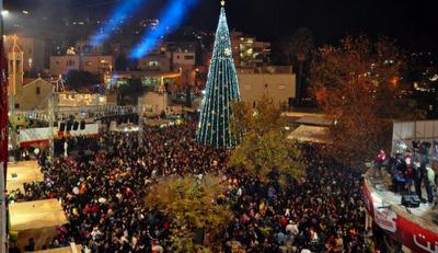 The Christmas celebration in Nazareth (picture: http://erinamsili.blogspot.com/).