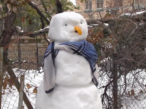 What was lots of fun when it began has become life-threatening to many without power. This snowman was in Jerusalem (picture: walla).